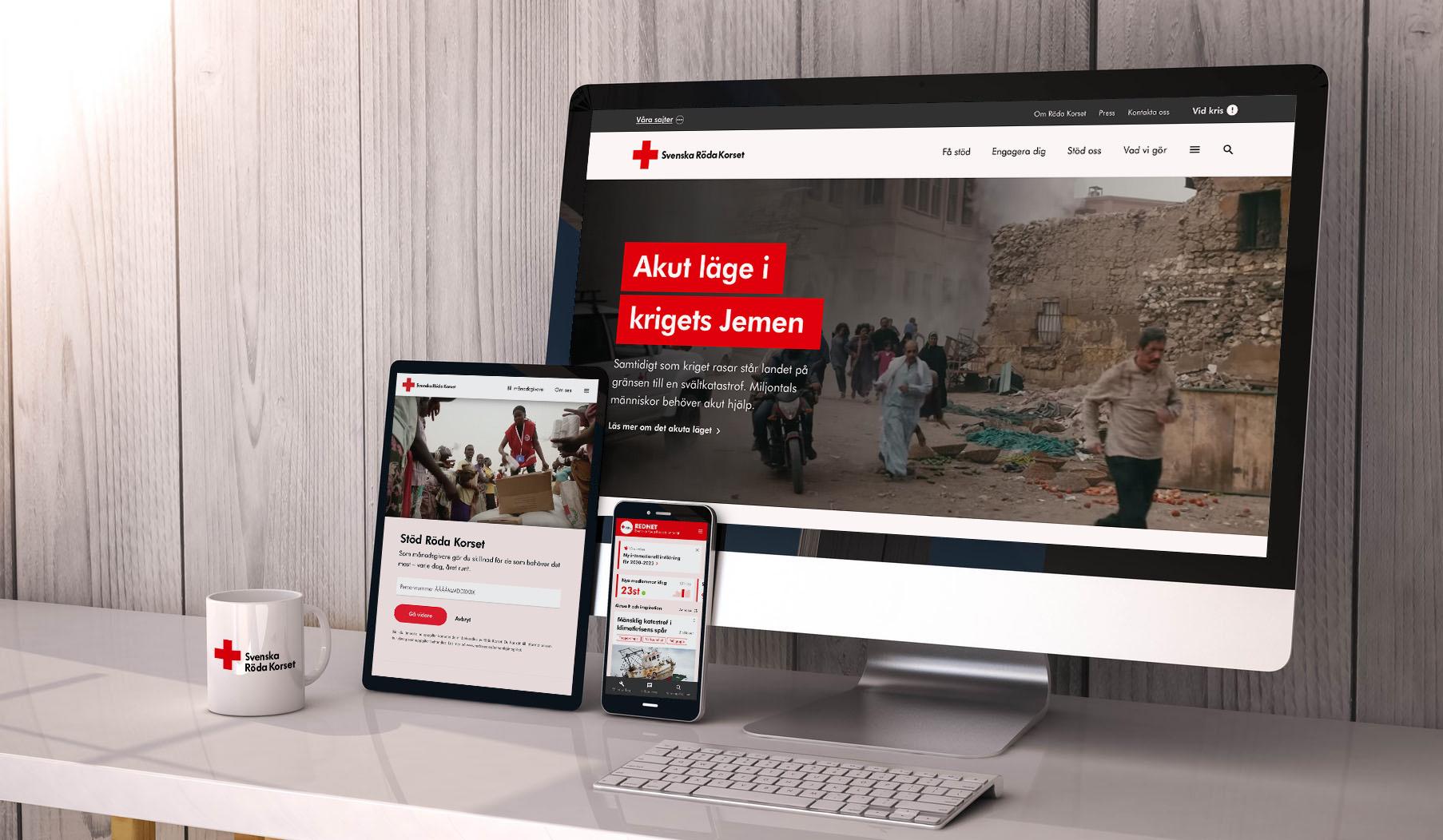 Ett Röda Korset på nätet